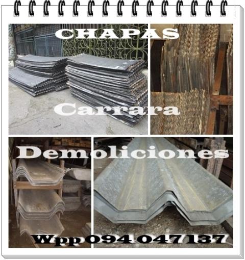 Chapas gruesas carrara demoliciones tel: 22035217