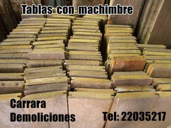 Tablas tel 22035217 carrara demoliciones
