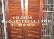 CELOSÍAS de madera rectas o curvas CARRARA Tel 22006811