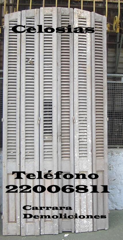 Celosias de madera telefono: 2203 5217 carrara