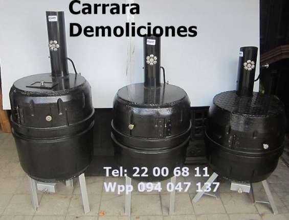 Estufas a leña tel 2200 6811. carrara demoliciones