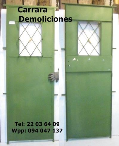 """Puerta de hierro tel: 22036409 """"carrara demoliciones"""""""