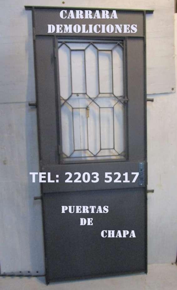 Puerta de chapa tel: 2203 5217 aberturas