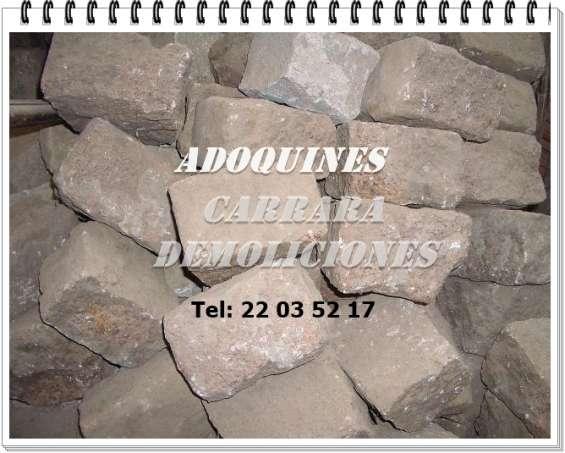Adoquines de granito tel: 22035217 carrara demoliciones
