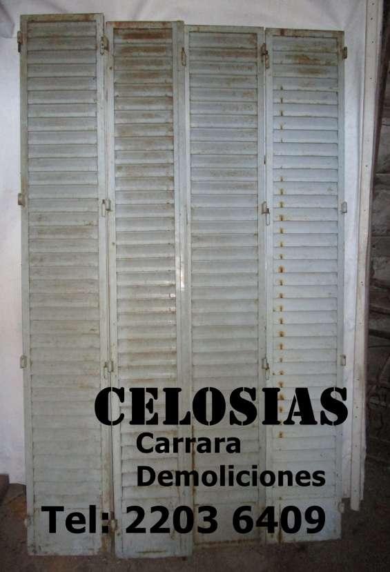 """Celosias """"demoliciones carrara"""" tel: 2203 6409"""