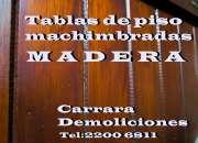 Tablas de piso de pinotea MACHIMBRADAS para encastrar y tablones de madera