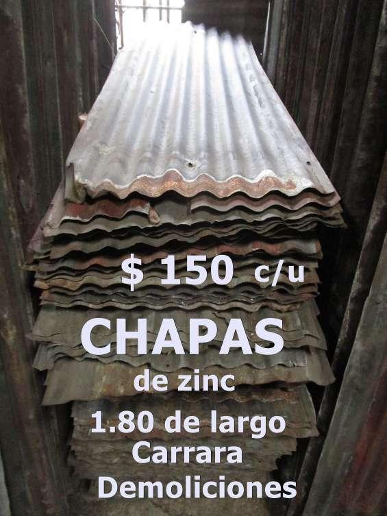 $ 100 el metro chapa de zinc