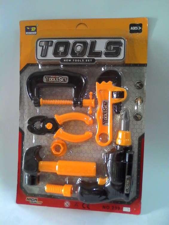 Juguetes set de herramientas 14 y 16 cms kon tiki
