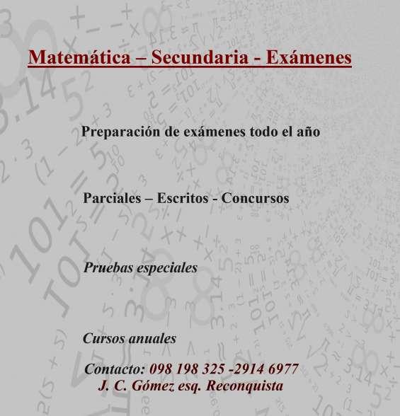 Matemática ciudad vieja - exámenes - cursos