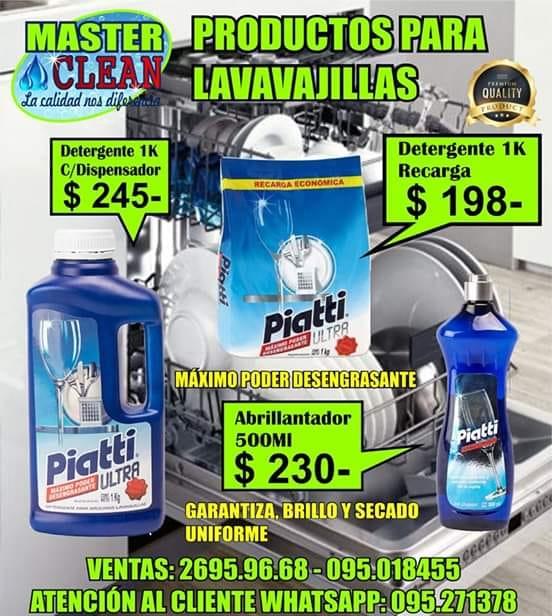 Productos para lavavajillas