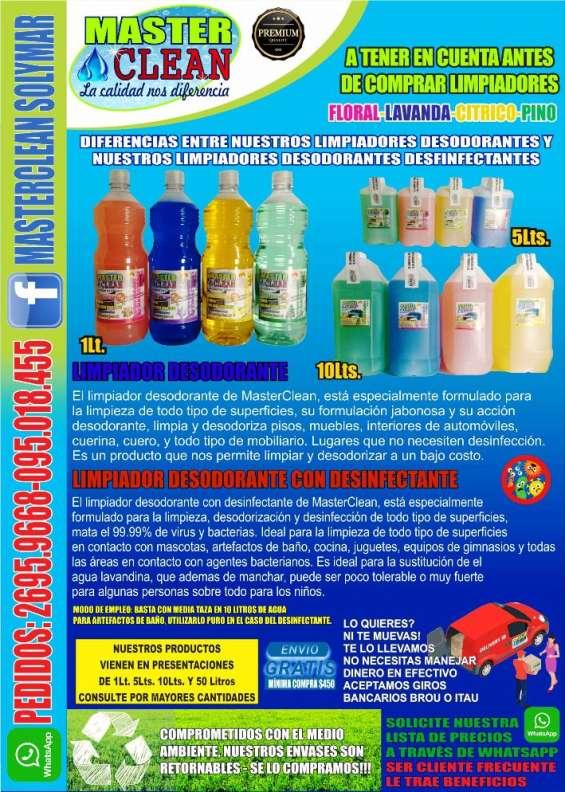 Limpidores, desodorantes con o sin desinfectante